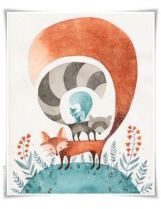 Le renard de la forêt par Evajuliet