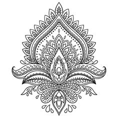 Image result for henna lotus drawing