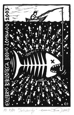 Exlibris Bodio Lomnago_01    13 x 8 cm, Lino Cut, 2003