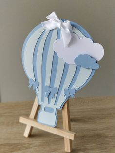 Airballoon on stand Unisex Baby Shower, Baby Boy Shower, Balloon Birthday Themes, Moldes Para Baby Shower, Free Baby Shower Printables, Baby Shower Balloons, Baby Birthday, Air Balloon, Creations