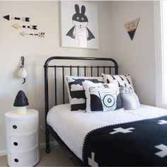 Boys monochrome bedroom