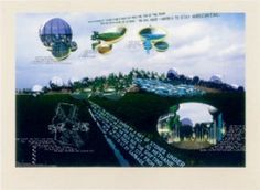 Vito Acconci / found on www.kunzt.gallery / The City that Rides a Garbage Dump , 1999 / Lithograph