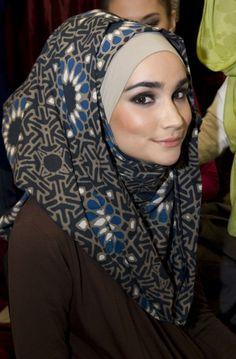 indigo batik by NurZahra as a headscarf..
