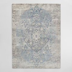 Featuring a large-scale, intricate design in a contemporary color palette, our artfully distressed area rug boasts a unique visual sheen with a soft underfoot feel. Great for high-traffic areas, it's naturally stain-resistant, easy to clean and does not shed.