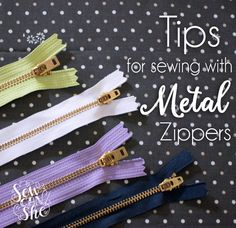 Tips for Sewing Metal Zippers - have no fear! — SewCanShe | Free Daily Sewing Tutorials