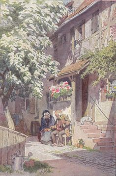 Fairy Land, Fairy Tales, Cottage Art, Great Paintings, Illustrations, Old Houses, Find Art, Exterior Design, Fantasy Art