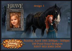 Personalized Disney Brave Merida Printable Invitation by BirthdayP, $10.00