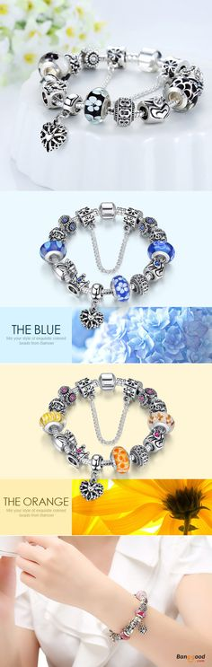 US$12.99+Free shipping. Material: Copper, Glass Beads. Love style! Women's Jewelry, Jewelry Making, Women's Fashion, Glass Beads Bracelet. Color: Blue, Yellow, Black.