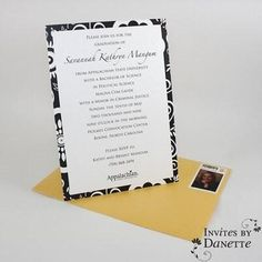 College graduation invitation with personalized postage. Danette Baso Silvers (InvitesByD) on Twitter