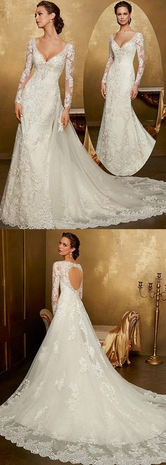Junoesque Tulle V-neck Neckline 2 In 1 Wedding Dress With Lace Appliques & Beadings
