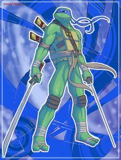 Mikey by WincalBlanke on DeviantArt Teenage Ninja Turtles, Ninja Turtles Art, Tortugas Ninja Leonardo, Tmnt Leo, Leonardo Tmnt, Tmnt 2012, Turtle Love, Animation, Cartoon