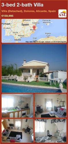 3-bed 2-bath Villa in Villa (Detached), Dolores, Alicante, Spain ►€159,995 #PropertyForSaleInSpain