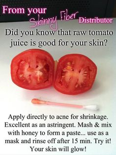 Tomato for your skin