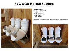 PVC Goat Mineral Feeders