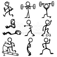 Stickfigure Fitness royalty-free stock vector art