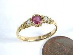What people believe to be an accurate representation of Laura Ingalls Wilder's engagement ring!
