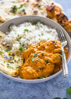 Yogurt and spice infused chicken kabob cooked in a creamy tomato sauce and served with easy stove-top garlic naan. If I had to pick a cuisine to live on for the rest of my days, Indian would win by…