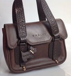 Reduced Price Vintage Radley London Handbag Chocolate Brown Leather With Pale Pink Lining Ruby Lane