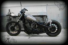 joey's vlx600 bobber | tail end customs - bikerMetric