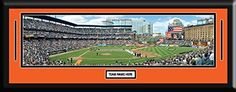 MLB- Baltimore Orioles - Oriole Park at Camden Yards Framed Panoramic With Team Color Double Matting & Name plaque