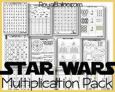 Baloo is back in a Star War phase and has told me he would do extra multiplication work if it was Star Wars themed. Naturally, I jumped on that opportunity! So in this multiplication pack is… Math Worksheets, Math Resources, Math Activities, Star Wars Classroom, Math Classroom, Multiplication Practice, Maths, Multiplication Strategies, Multiplication Flash Cards