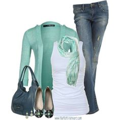 Seafoam/Teal outfit