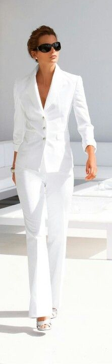 white suit #brightwhites #summerfashion