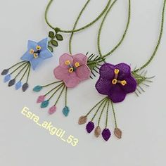 Image may contain: jewelry Tassel Necklace, Crochet Necklace, Easter Table Decorations, Needle Lace, Hand Embroidery Designs, Piercings, Craft Items, Elsa, Diy And Crafts