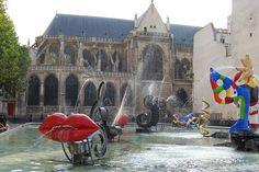 Stravinsky Fountain at Pompidou