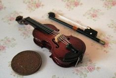 Dollhouse Violin, Gypsy violin,  Medieval violin,  twelfth scale dollhouse miniature