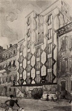 apartment house design by piero portaluppi
