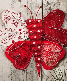 Look at this Valentine's Butterfly Wall Décor on #zulily today!