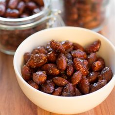 Honey Ginger Roasted Almonds are a great snack, plus they are quick and easy to make!