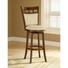 Hillsdale Furniture Jefferson 41.5 inch Swivel Counter Stool, Brown Cherry Finish