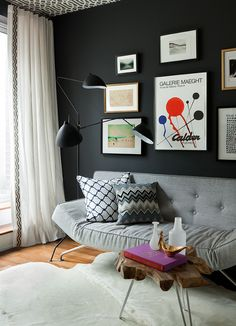 black feature/gallery wall