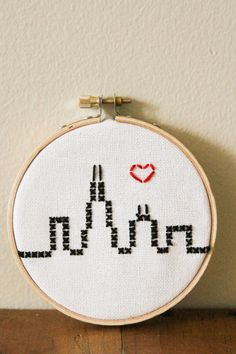 Cross Stitch Chicago Skyline by collectionsbyknb on Etsy Cross Stitch Cards, Cross Stitching, Cross Stitch Embroidery, Cross Stitch Patterns, Chicago Skyline, Crochet Cross, Plastic Canvas Patterns, Cute Crafts, Crossstitch