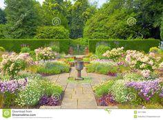 formal english gardens | Formal English Garden. Stock Photos - Image: 32717693