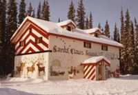 It's Christmas year-round at the Santa Clause House outside Fairbanks. See live reindeer and have a letter sent postmarked with the North Pole. Santa Claus House, Santa Clause, Christmas Crafts For Gifts, Christmas Letters, Christmas Tree, White Christmas, Christmas Lights, Visit Santa, Domestic Flights