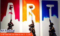 The LA Art Show 2017 commences on Jan 11 - Jan 15 2017 book your tickets now http://webneel.com/art-exhibition-festival-contests | Design Inspiration http://webneel.com | Follow us www.pinterest.com/webneel