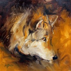 native american paintings | American Art Moves!: WOLF ABSTRACT 20x20 ORIGINAL OIL PAINTING ...