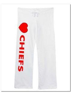 Womens Chiefs Sweatpants White