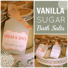 sugar and spice and everything nice bath salts. great favor or theme for girl baby shower