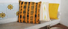 Majorcan #ikat cushion covers. Mallorca, Tie Dye Skirt, Cushion Covers, Cushions, Throw Pillows, Cotton, Pattern, Fabric, Beauty