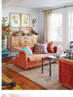 I Love The Couch And Cushions But Id Change The Rug To A Dark Stone