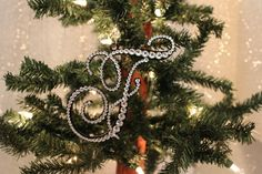 Monogram Christmas Ornament. My daughter wants a letter for her name on the Christmas tree!