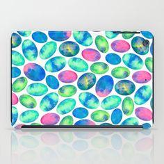 Stone Eggs iPad Case #art #eggs #stoneeggs #pattern #abstract #design #decor #colorful #ipad #ipadcase Pouches, Ipad Case, Cases, Stone, Rock, Batu, 1st Birthdays