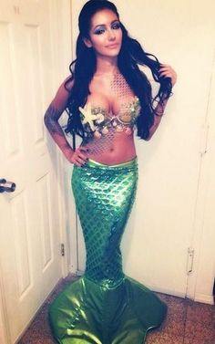 Sexy Mermaid Costume Idea.                                                                                                                                                     More