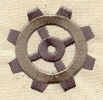 This matches the tattoo I'm getting almost exactly. I'd love to put this on some of my everyday clothing.   Basic Gear 6 design (UT4101) from UrbanThreads.com