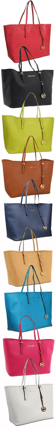 MICHAEL Michael Kors Saffiano Medium Travel Tote.  I want one in every color!