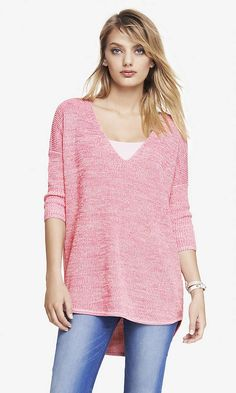 cute dropped back sweater